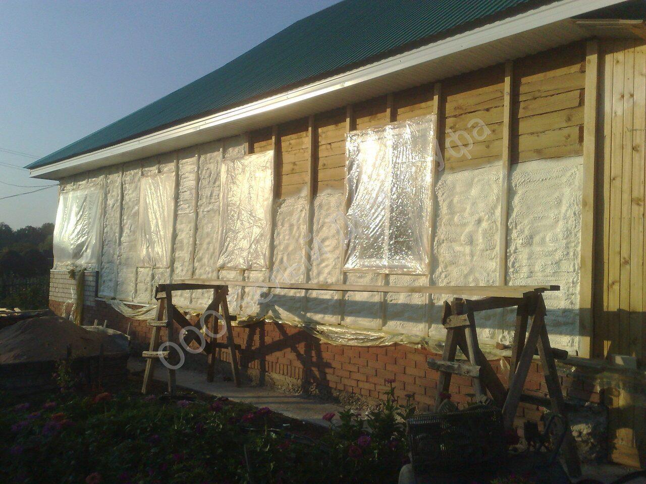 утепление дома из бруса | Объекты
